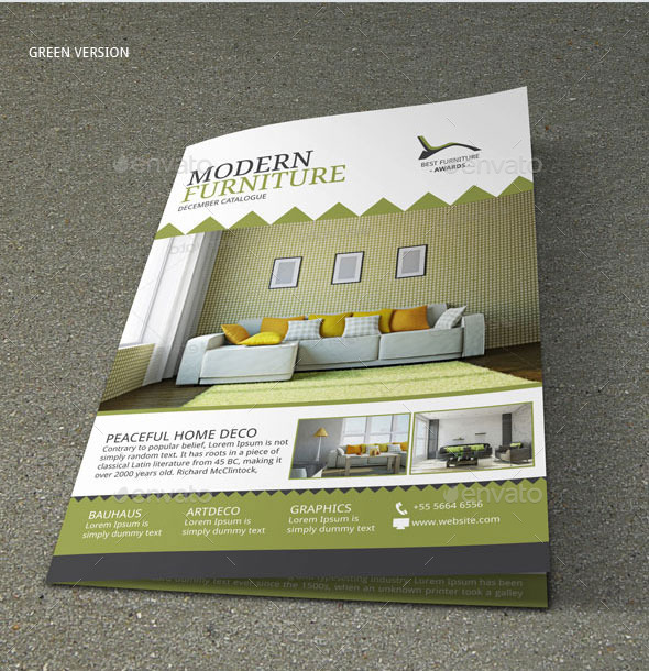 Brochure Interior Design About Furniture ~ Furniture store brochure template by ankids graphicriver