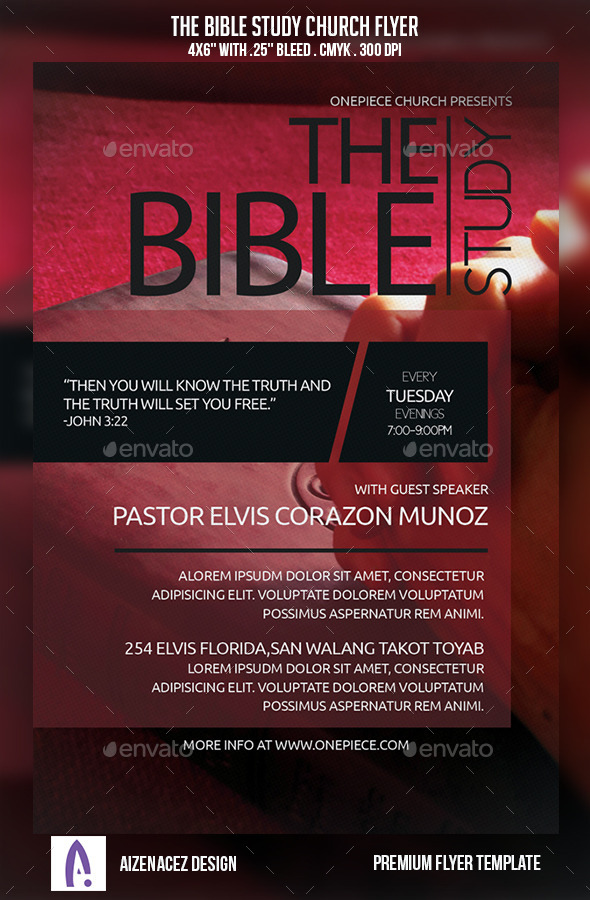 The Bible Study Church Flyer - Church Flyers