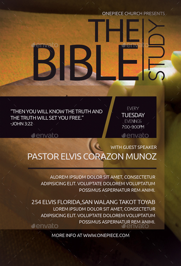 the bible study church flyer by aizenacez
