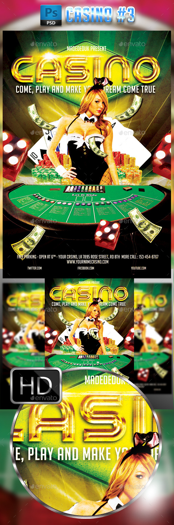 Casino Flyer Template #3 - Events Flyers