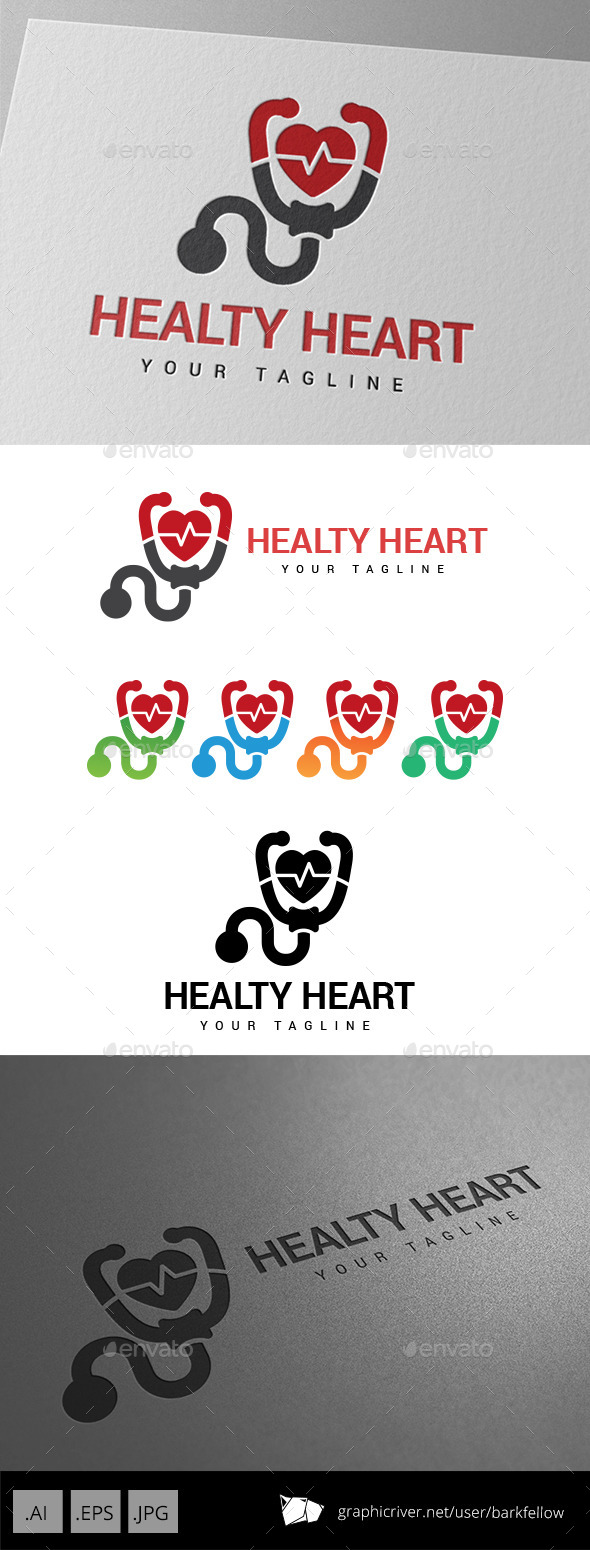 Healthy Heart Logo - Abstract Logo Templates