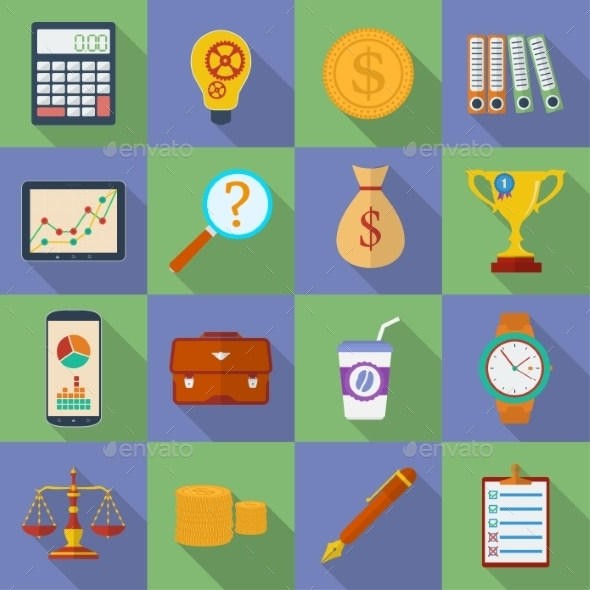 Business Icon Set - Web Elements Vectors