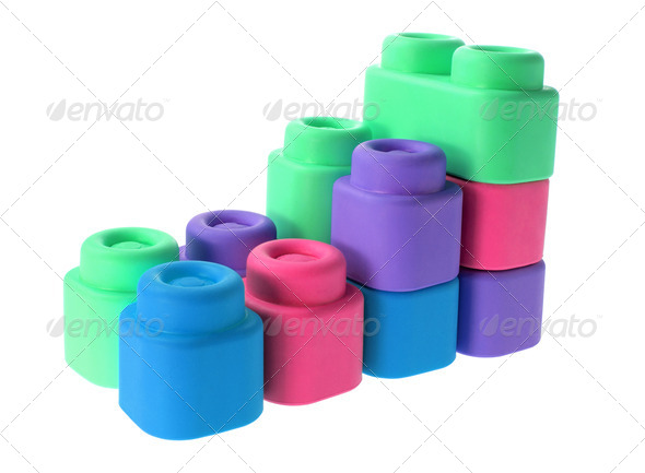 Plastic Building Blocks - Stock Photo - Images
