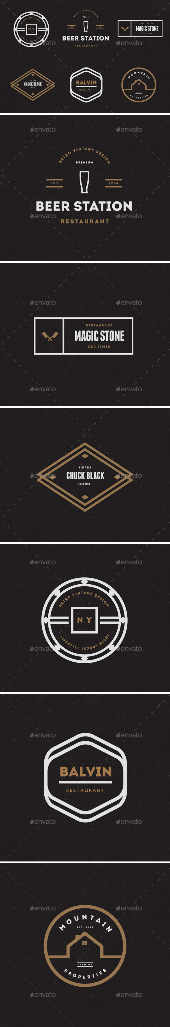 Vintage Labels & Badges / Logos V20 - Badges & Stickers Web Elements