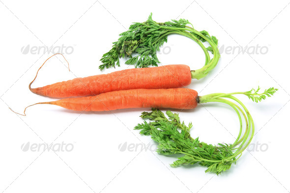 Carrots Arranged in Heart Shape - Stock Photo - Images