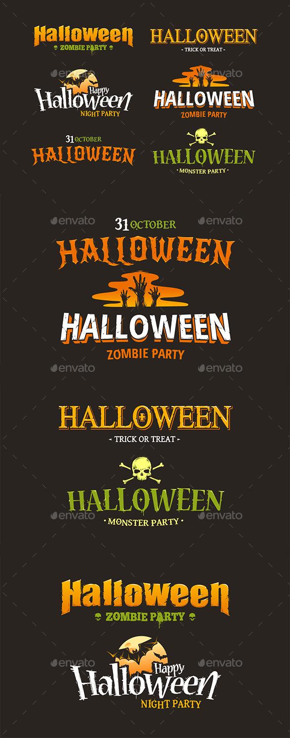 Halloween Typography Set - Halloween Seasons/Holidays