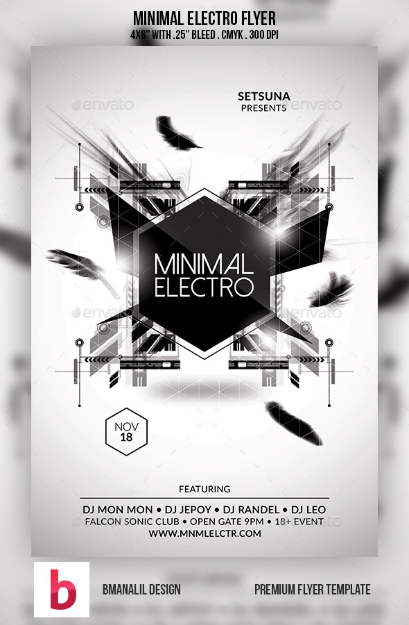 Minimal Electro Flyer - Clubs & Parties Events
