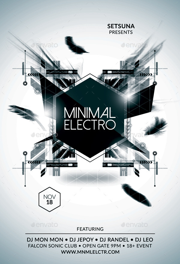 Minimal Electro Flyer By Bmanalil  Graphicriver