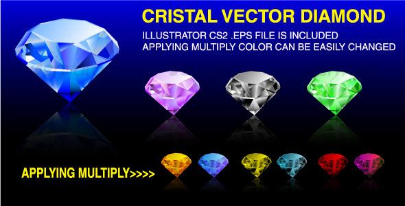 Vector Diamond - Organic Objects Objects