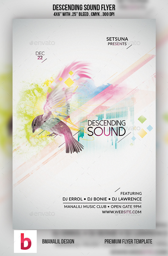 Descending Sound Flyer - Clubs & Parties Events
