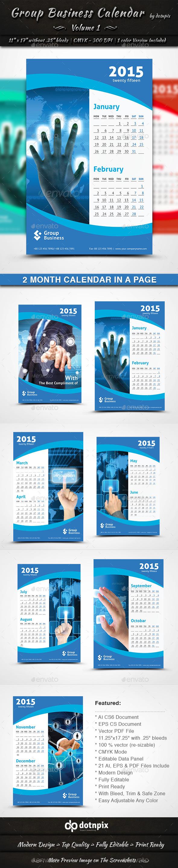 Group Business Calendar - Calendars Stationery