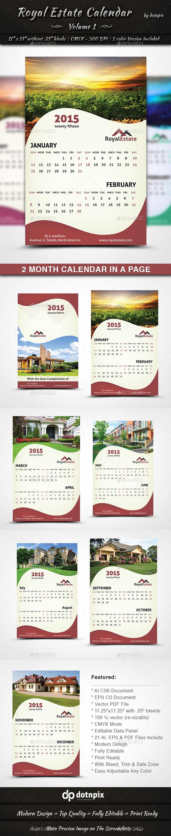 Royal Estate Calendar - Calendars Stationery