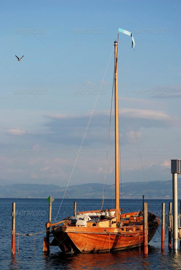 Historic sailing boat - Stock Photo - Images