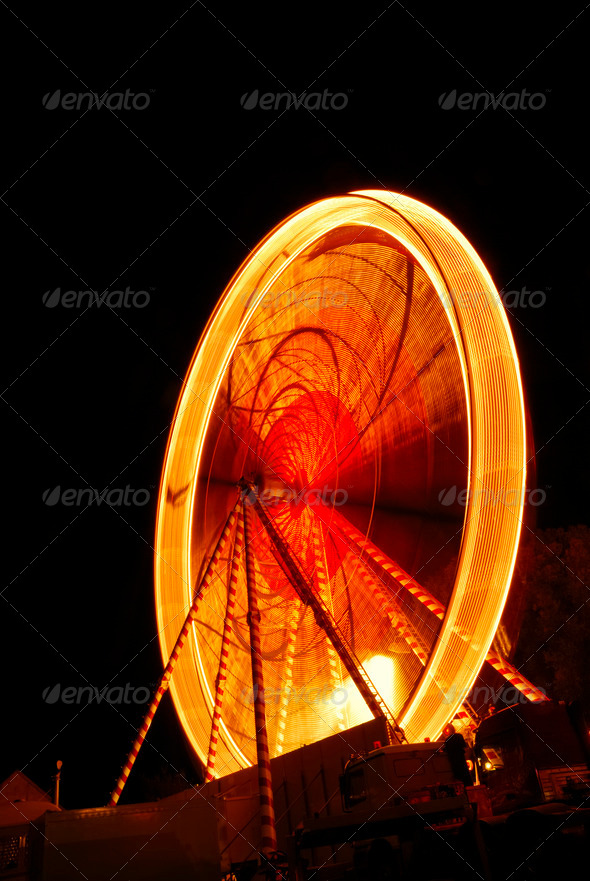 Big wheel at night - Stock Photo - Images