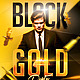 Black Gold Party Flyer plus FB Cover - GraphicRiver Item for Sale