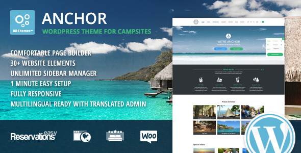 Anchor – Hotel Theme with Reservation System