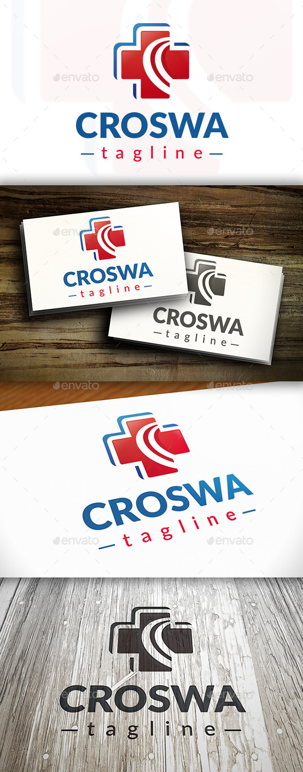 Cross Wave Logo - Symbols Logo Templates