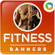 Health & Fitness Banners - GraphicRiver Item for Sale