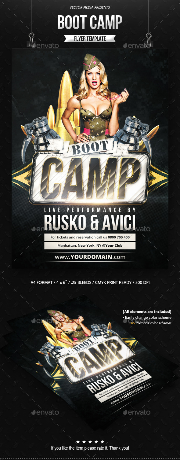 Boot Camp - Flyer - Clubs & Parties Events