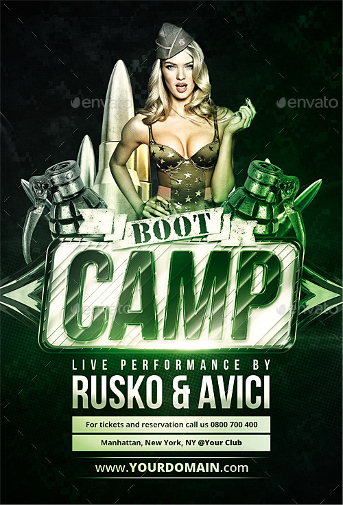Boot Camp Flyer By Vectormedia Graphicriver