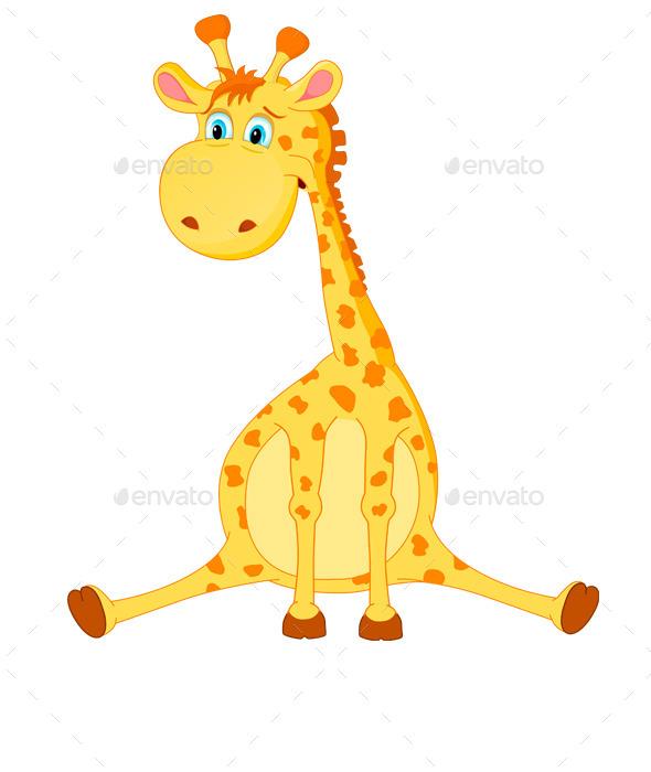 Giraffe Vector - Animals Characters