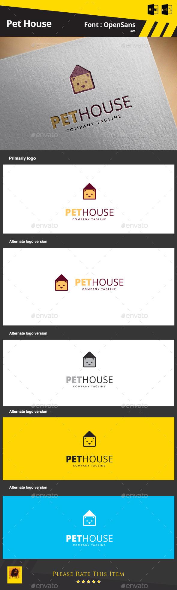 Pet House - Animals Logo Templates