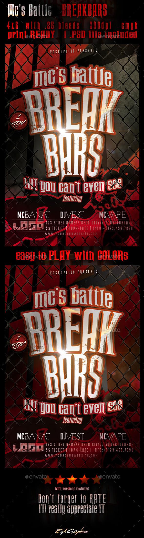 Mc's Battle - BreakBars - Clubs & Parties Events