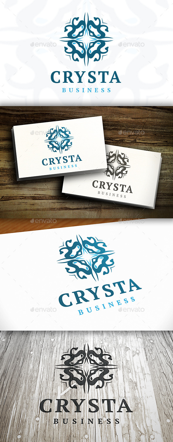 Elegant Crest Logo Template - Vector Abstract