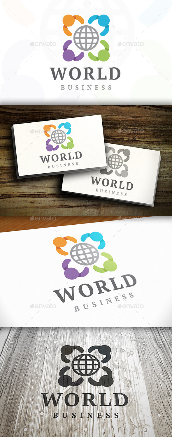 Kids World Logo Template - Humans Logo Templates