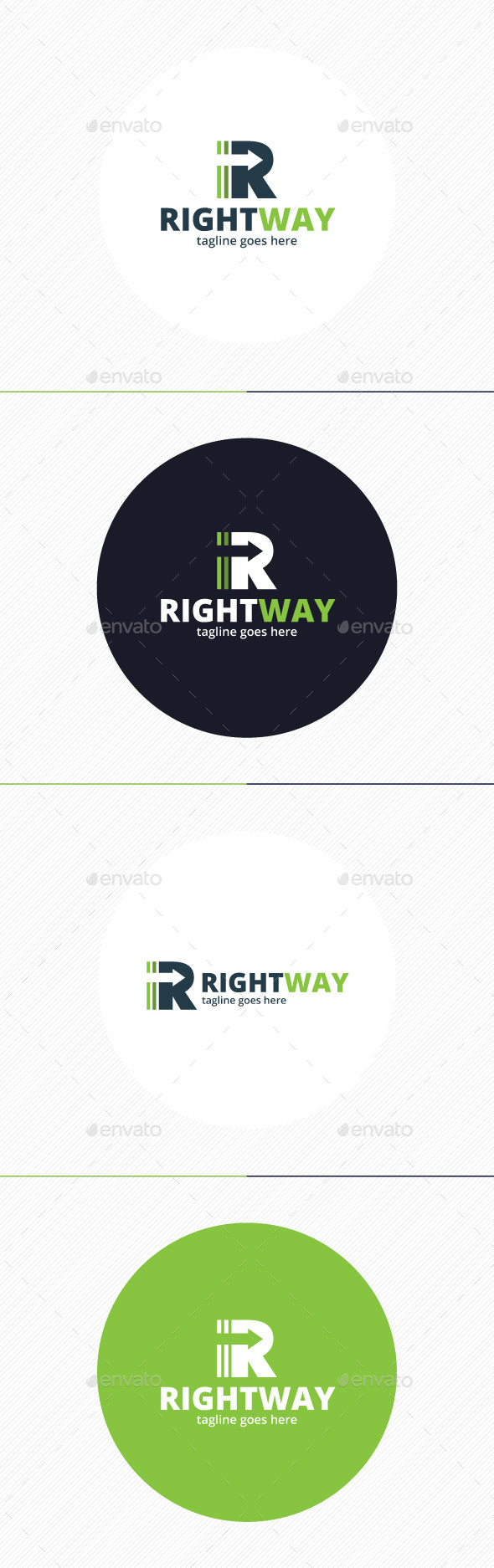 Right Way Logo — Letter R - Letters Logo Templates
