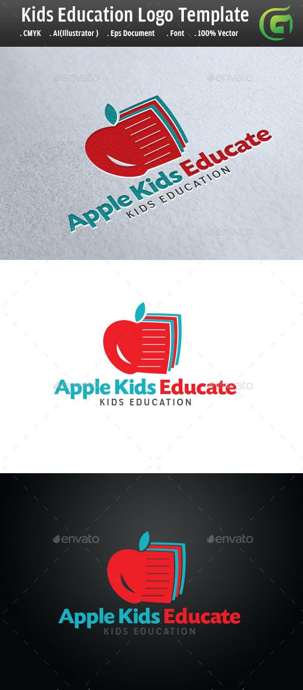 Kids Education Logo - Symbols Logo Templates