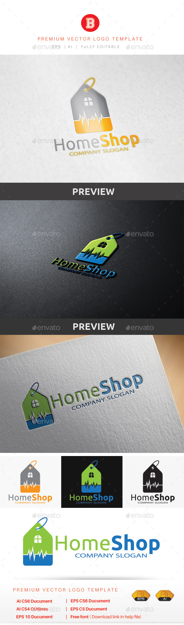 Home Shop - Buildings Logo Templates