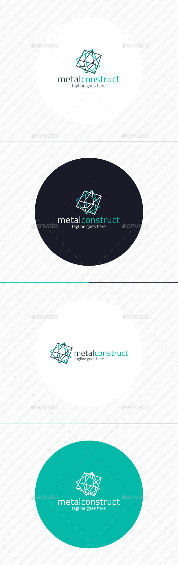 Metal Construct Logo - Vector Abstract