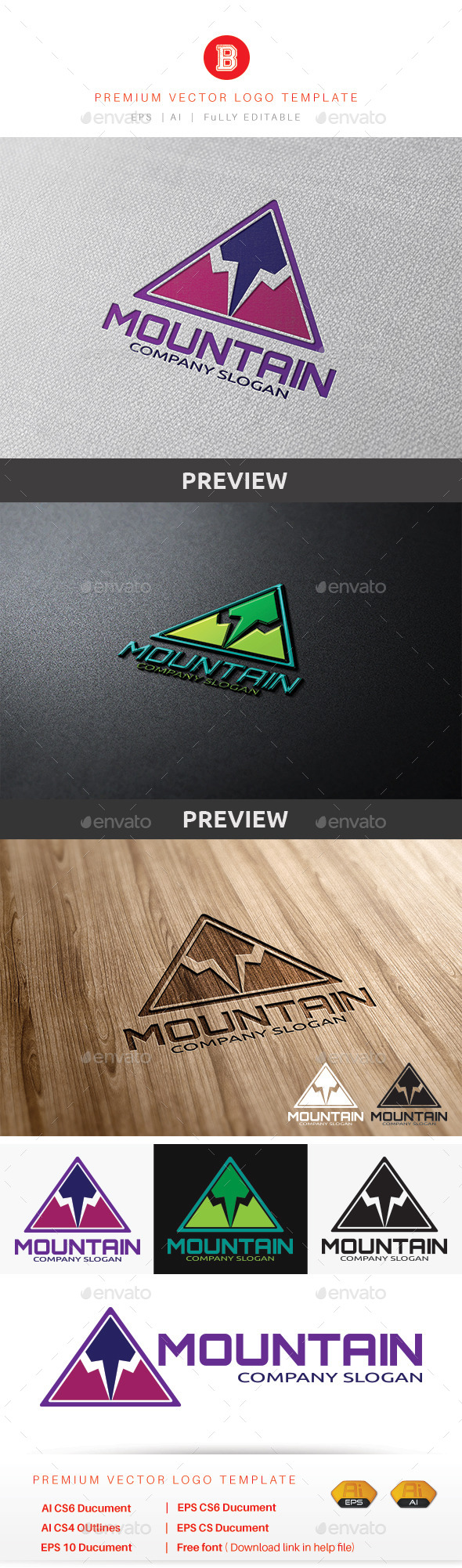 Mountain V.4 - Nature Logo Templates