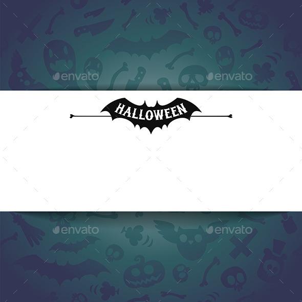 White Paper Sheet on Dark Halloween Background - Halloween Seasons/Holidays