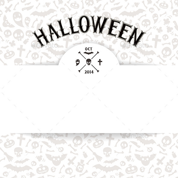 White Paper Sheet on Light Halloween Background - Halloween Seasons/Holidays
