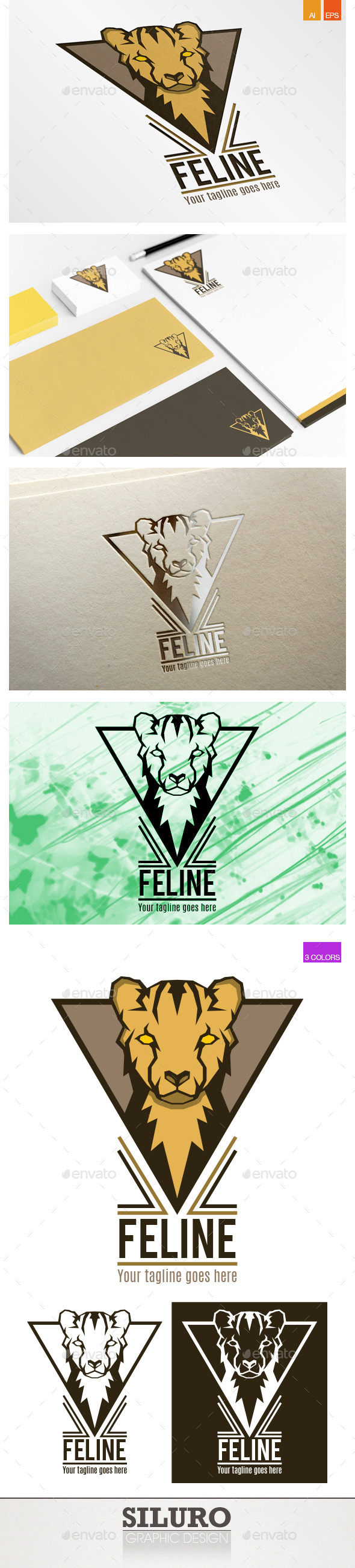 Feline Logo - Animals Logo Templates