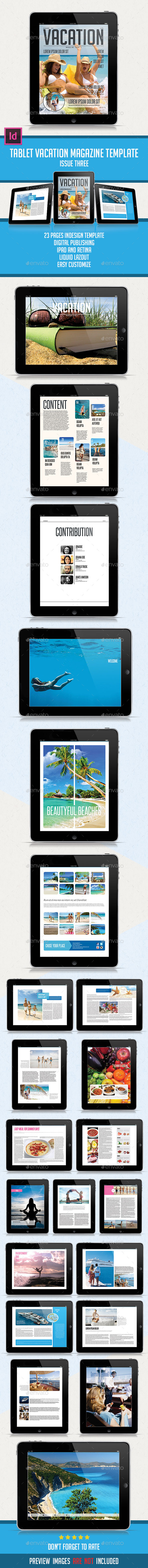 Tablet Vacation Magazine Issue Three - Digital Magazines ePublishing
