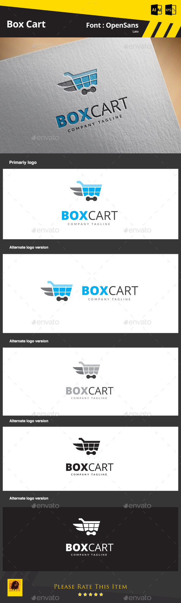 Box Cart  - Symbols Logo Templates