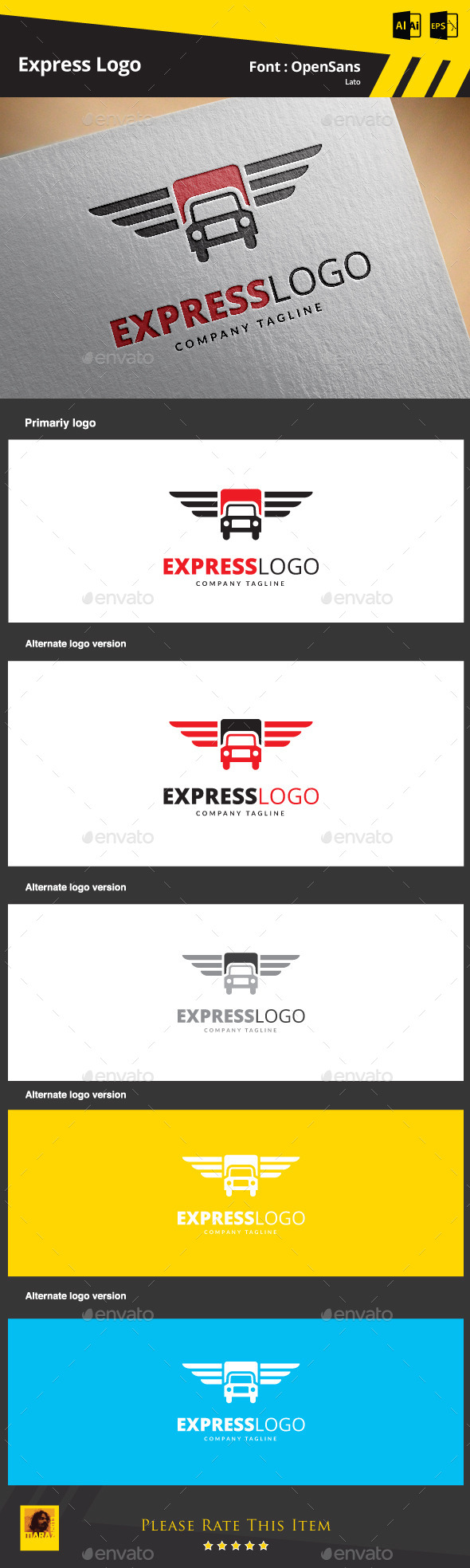 Express Logo - Objects Logo Templates
