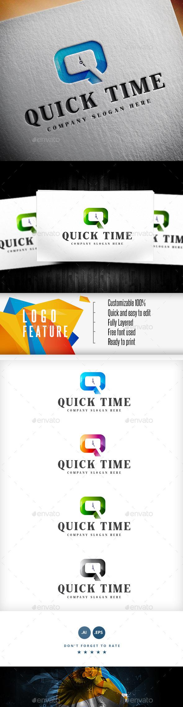 Quick Time Logo - Logo Templates