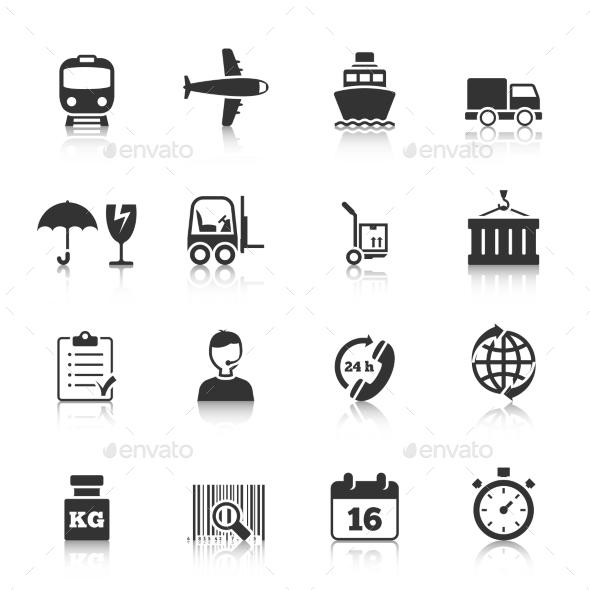 Logistics Icons Set - Technology Icons