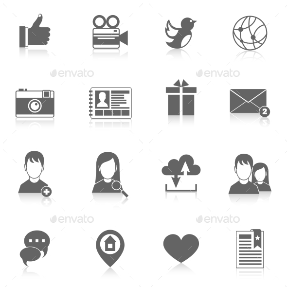 Social Media Icons Set - Technology Icons