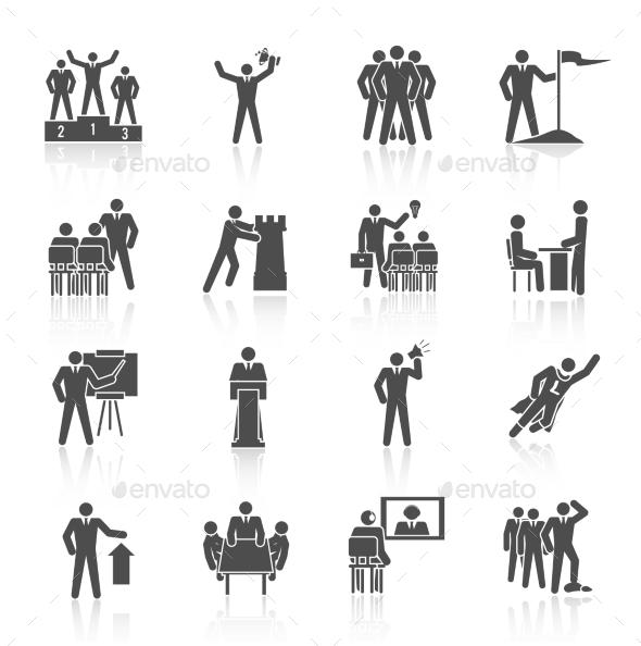 Leadership Icons Black - Business Icons