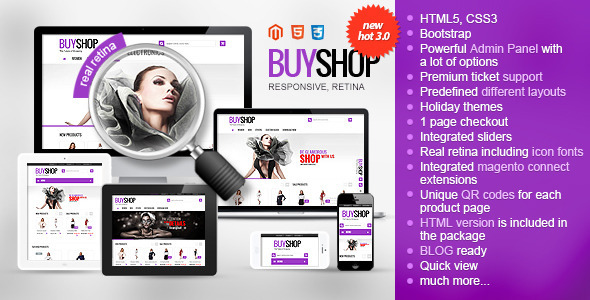 Premium, best seller (top5) Magento theme