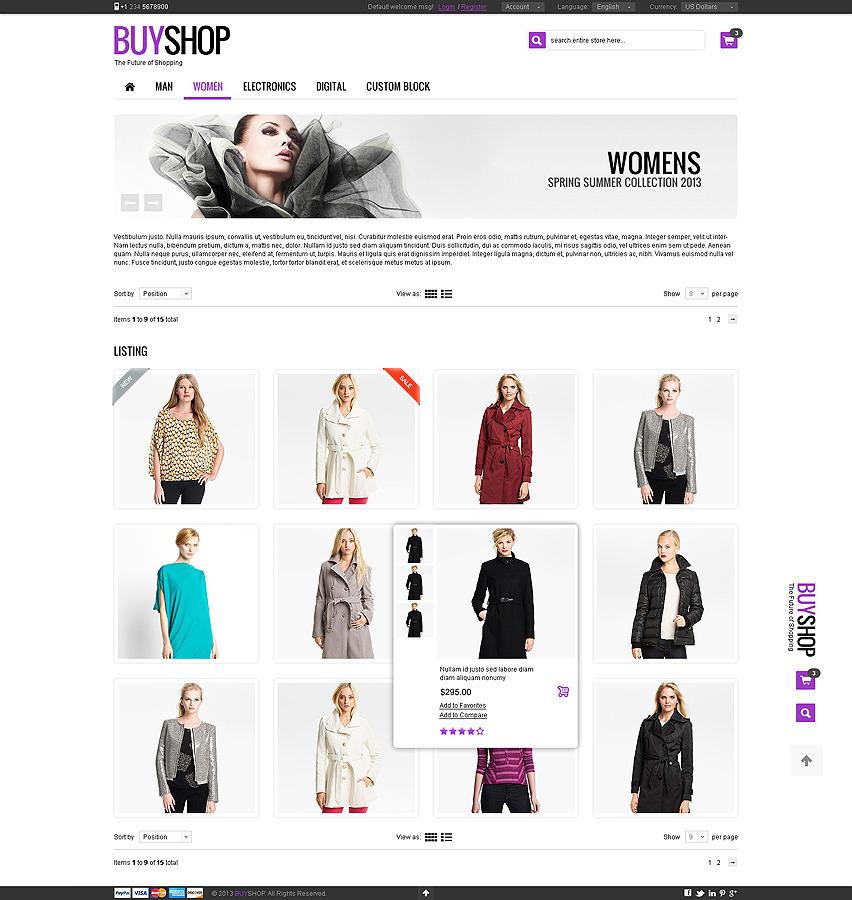 buyshop responsive retina magento theme by etheme