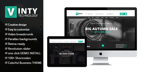Vinty – WooCommerce Business WordPress Theme