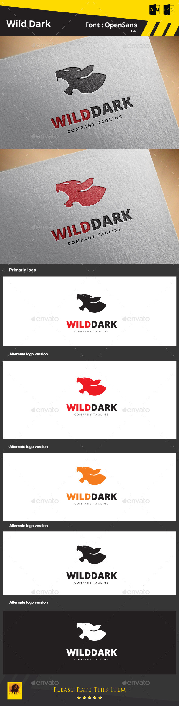 Wild Dark - Animals Logo Templates