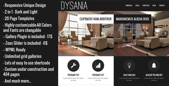 Dysania – Responsive Multi-Purpose WordPress Theme