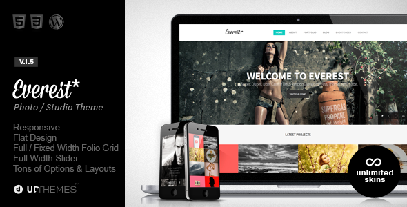 Everest – Responsive Portfolio WordPress Theme